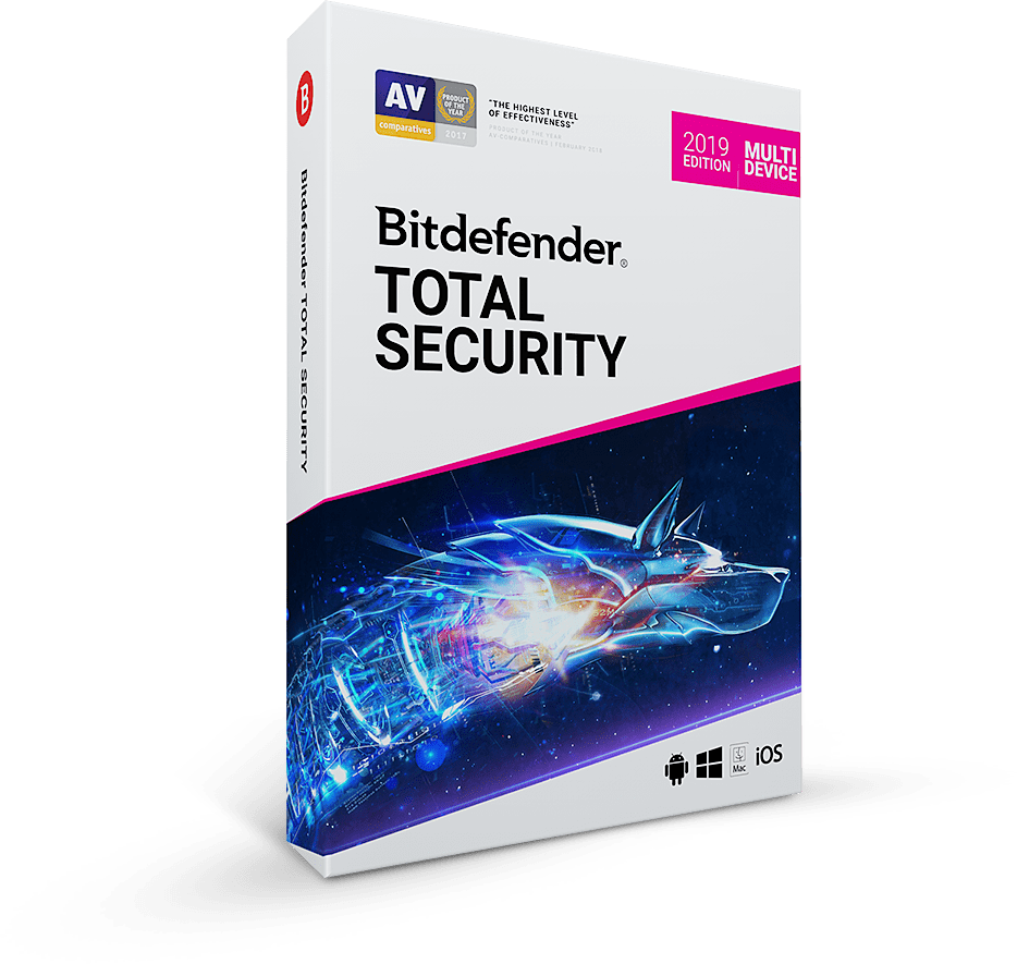 Bitdefender Total Security 2020, 1 год, 5 устр.