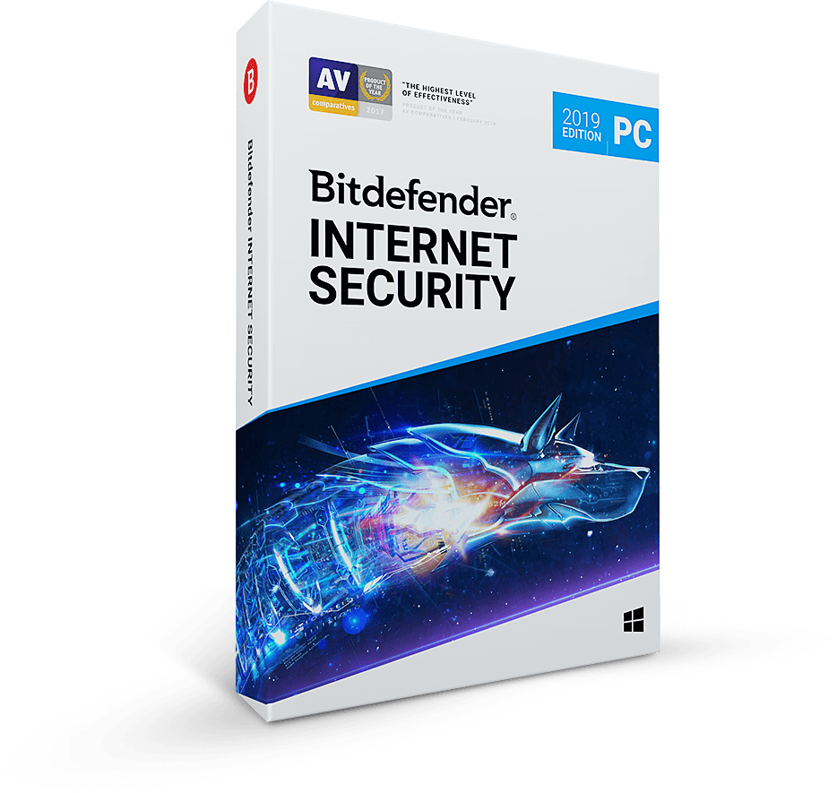 Bitdefender Internet Security 2020, 1 год, 3 ПК