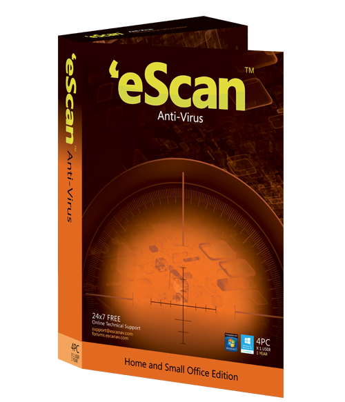 eScan Antivirus (AV) with Cloud Security, 2 ПК, 1 год