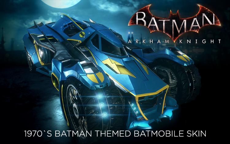 Batman: Arkham Knight - 1970s Batman Themed Batmobile Skin