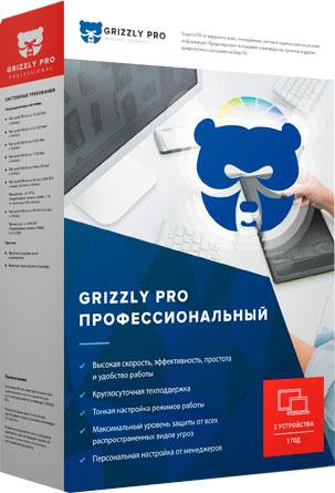 """Антивирус Grizzly Pro """"Профессиональный"""" электронная лицензия 12 мес (2 ПК)"""
