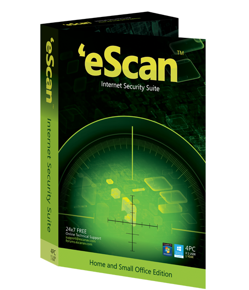 eScan Internet Security with Cloud Security, 2 ПК, 1 год