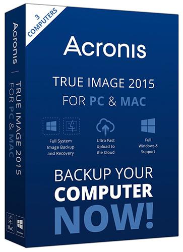 Acronis True Image для ПК и Mac