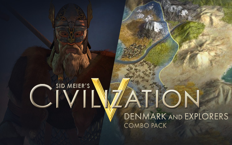 Sid Meiers Civilisation V : Denmark and Explorers Combo Pack