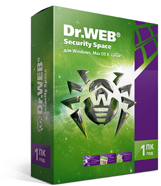 Dr.Web Security Space  на 36мес.4 лиц