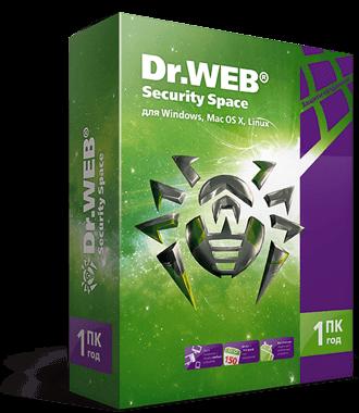 Dr.Web Security Space, КЗ, продление на 12 мес.,1 лиц.
