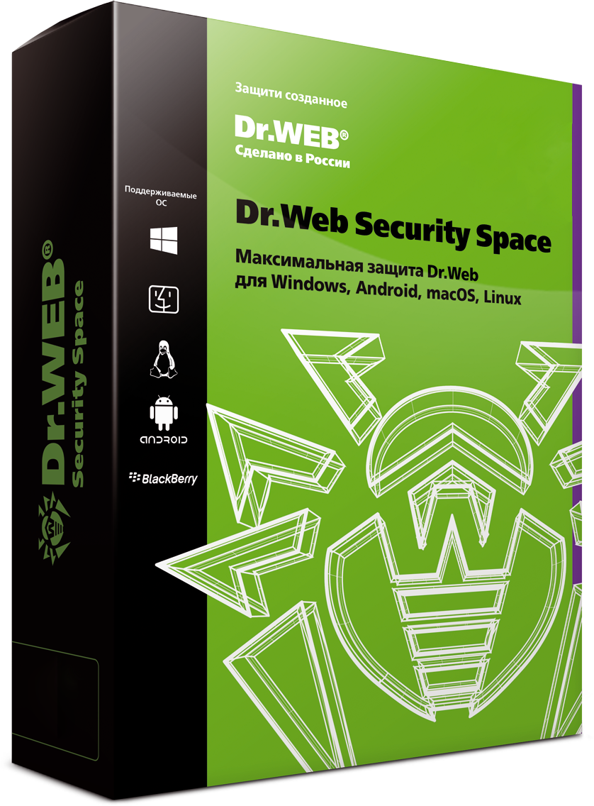 Dr.Web Security Space  на 36мес.2 лиц