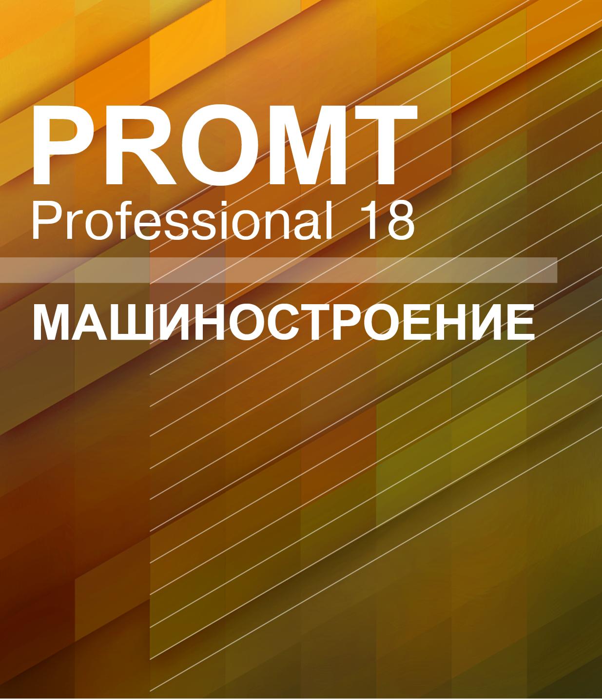 PROMT Professional 18 Многоязычный, Машиностроение