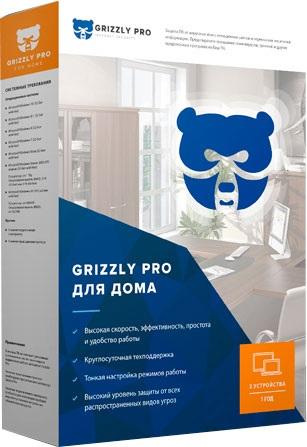 "Антивирус Grizzly Pro ""Дом"" электронная лицензия 6 мес (2 ПК)"